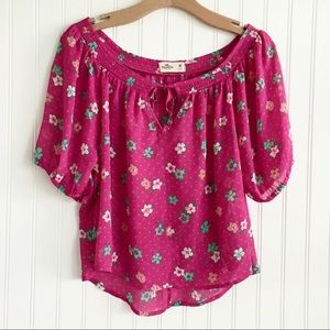 ⭐️ 3 for $25 Pink Floral Blouse